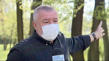 Dyrektor sanepidu wjechał do zamkniętego parku bez maseczki. Nie przyjął mandatu