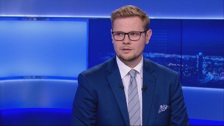 """Michał Woś, zakażony koronawirusem minister, w programie """"Wydarzenia i Opinie"""""""