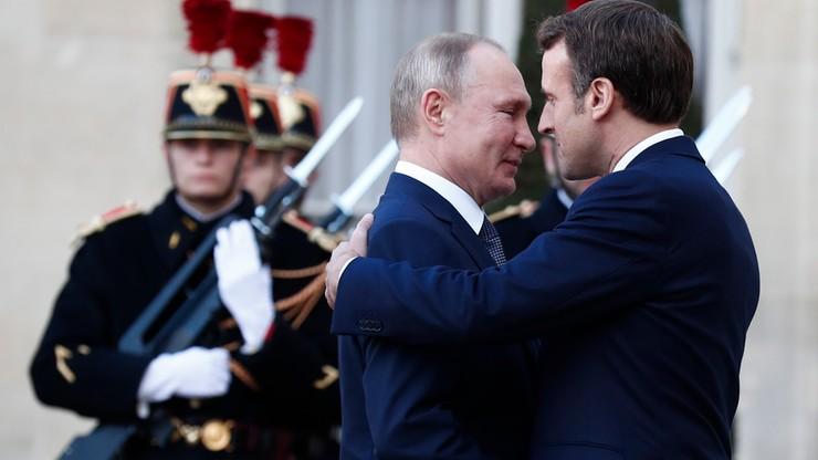 Paryski szczyt ws. sytuacji w Donbasie. W kuluarach rozmowy Putin- Zełeński