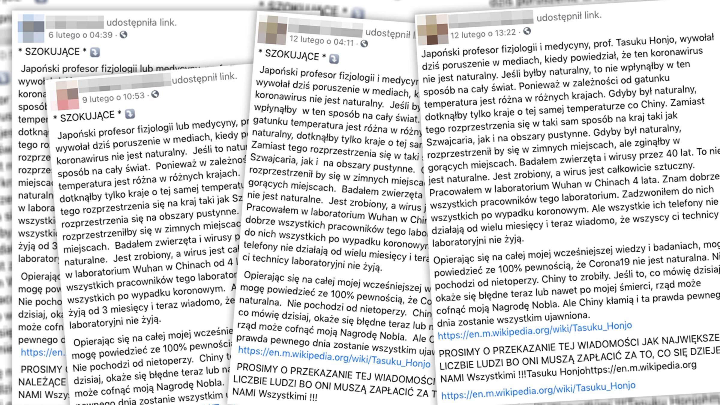 Wielu polskich internautów udostępnia rzekomy cytat japońskiego profesora