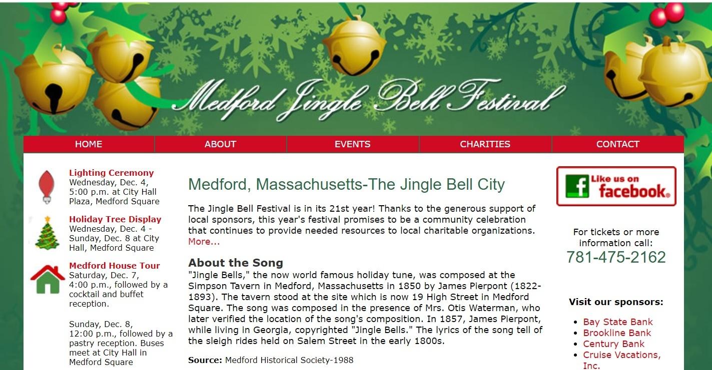 """Miasto Medford promuje się jako miejsce, w którym napisano """"Jingle Bells"""""""