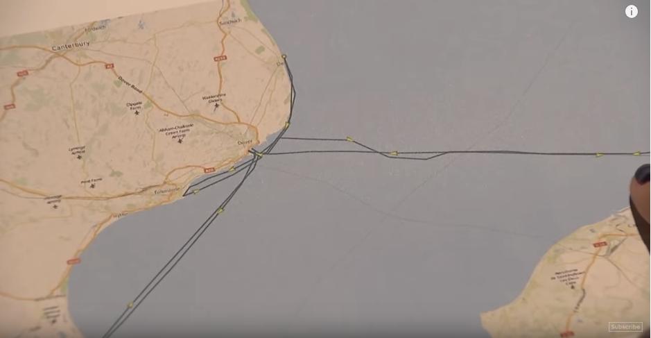 Trasa, którą pokazują dane z GPS-ów, do których dotarł Channel 4