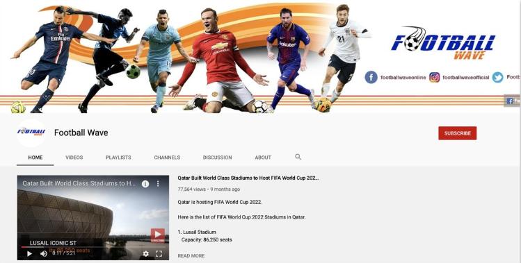 Kanał Football Wave na YouTube emitował film chwalący katarskie stadiony